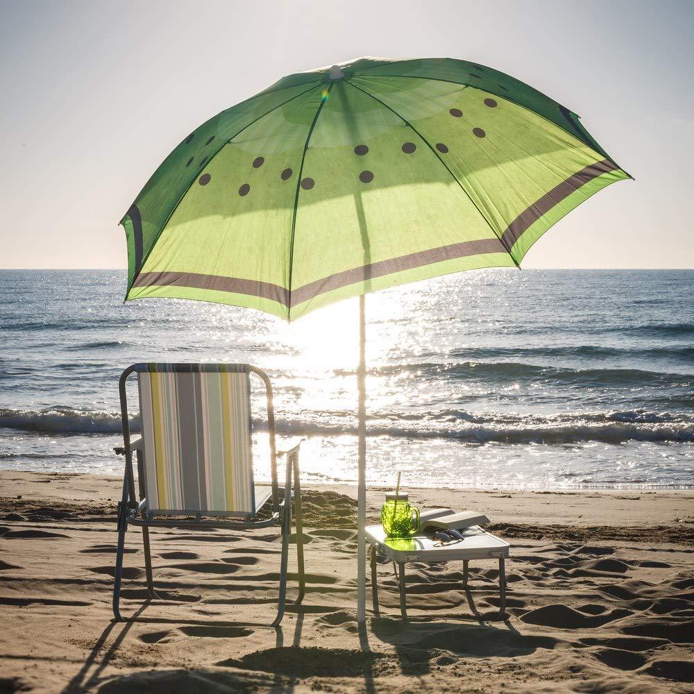 Sombrilla de Playa de Fruta de Acero Verde de 180 cm Garden LOLAhome