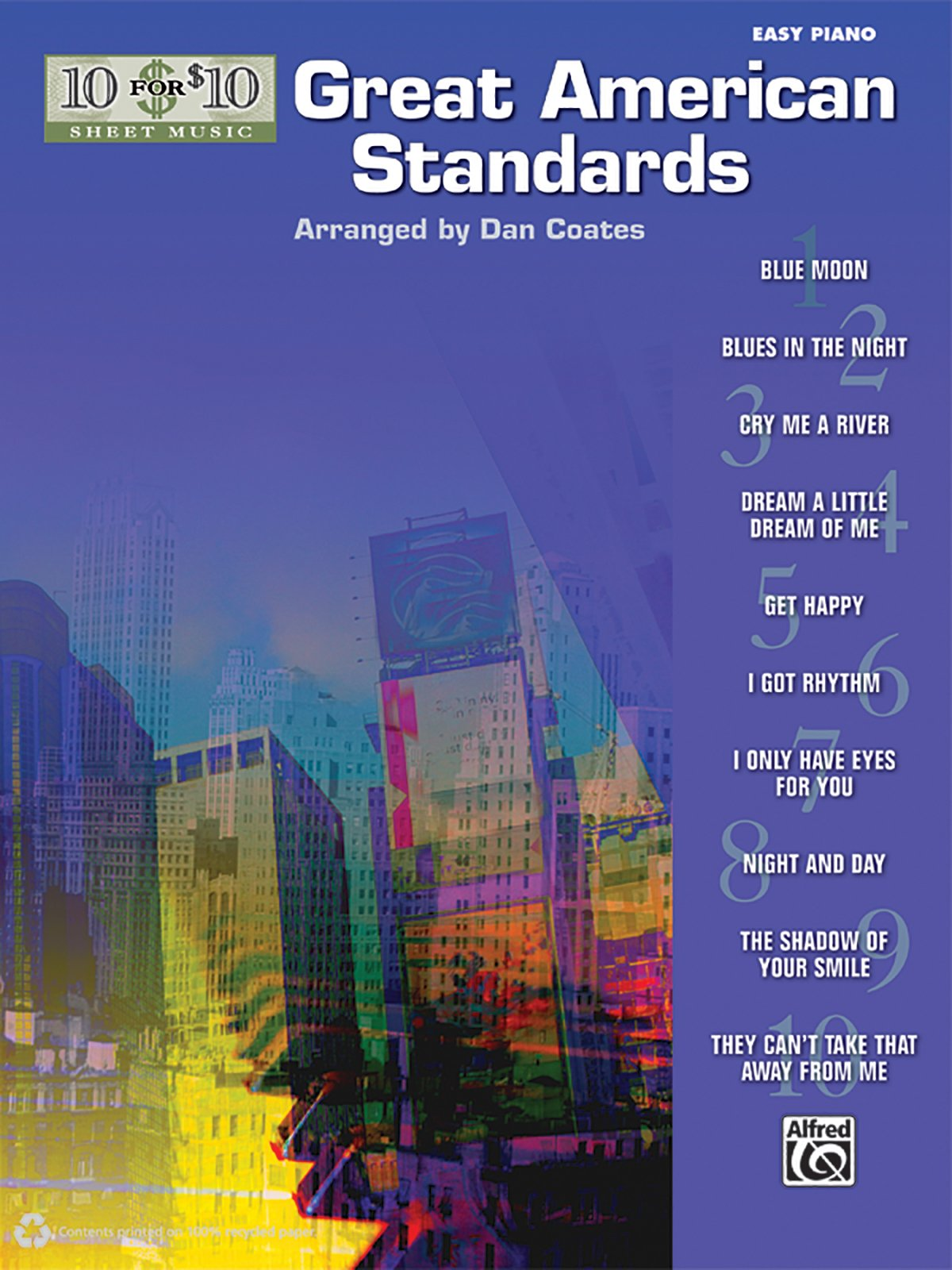 10 for 10 Sheet Music Great American Standards: Piano Solos