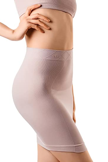 861510777 Image Unavailable. Image not available for. Color  +MD Women s Shapewear  High Waisted Nylon Firm Tummy Control Half Slip Body Shaper Nude
