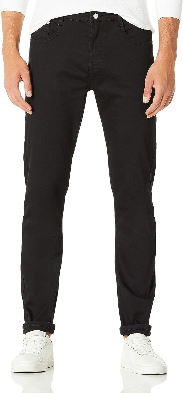 Demon&Hunter 808B Skinny Serie Hombre Pantalones Vaqueros Pitillos Jenas