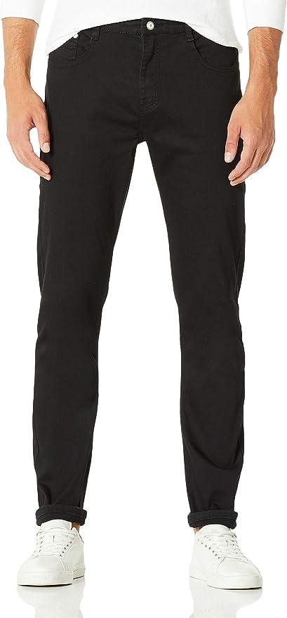 TALLA 28W / 30L. Demon&Hunter 808B Skinny Serie Hombre Pantalones Vaqueros Pitillos Jenas