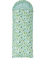 Mountain Warehouse Apex Mini Patterned Sleeping Bag -Mummy Shaped Camping Bag, Lightweight, Hollowfibre Insulation Outdoor Sleep Bag -For Backpacking, Festivals & Hiking