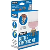 Flip-It! Bottle Emptying Kit - Get Every Drop Out of Lotions, Shampoos, Conditioners & Condiments BPA Free - Dishwasher…