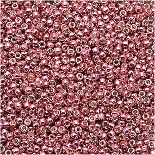 Beads Toho Treasure (Toho Round Seed Beads 15/0#PF553 - Permanent Finish Galvanized Pink Lilac (8g))