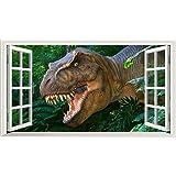 Dino 3d platine de Magic Window Sticker mural autocollant Poster Art mural Taille 1000mm de large x 600mm de profondeur (grande)