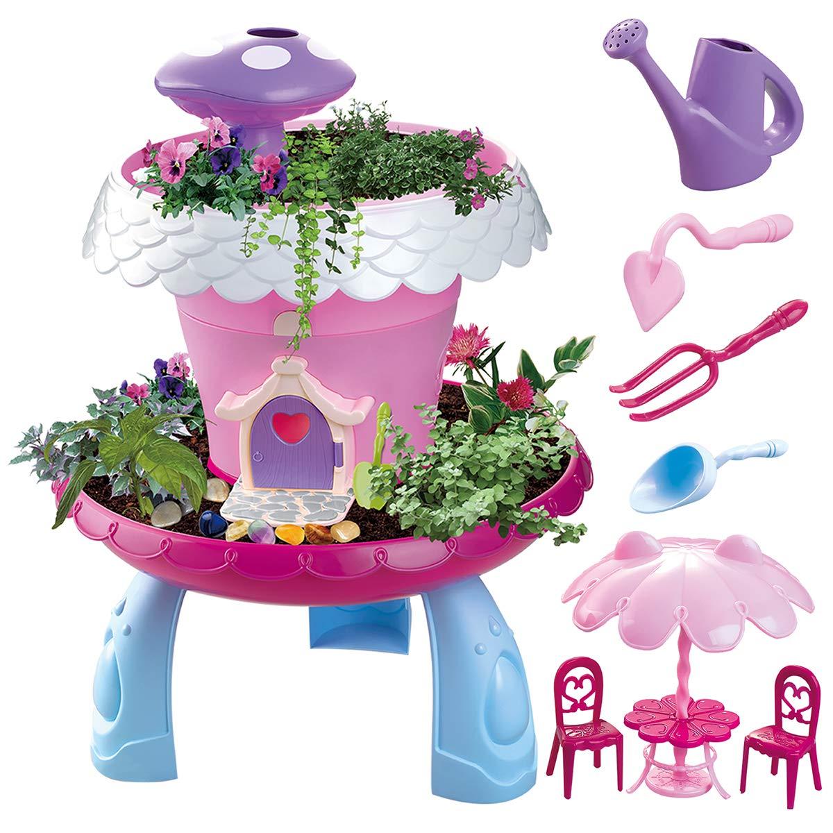 Maxxrace My Happy Garden Tools Toys, STEM Toys DIY Assembly Toys for Kids, Grow Your Own Garden Toys