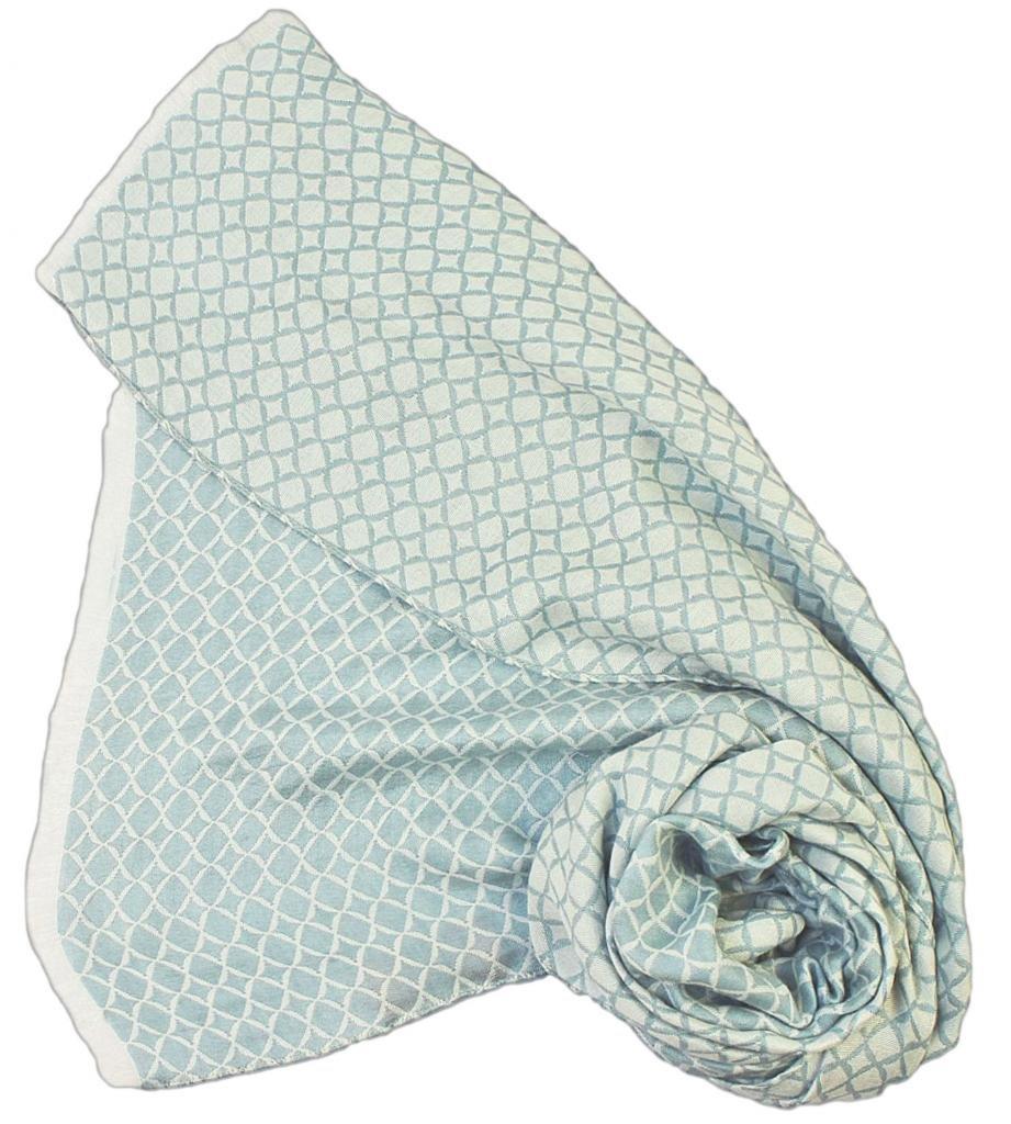 Stanley Lewis Men's Rhombus Silk Scarf Soft Blue