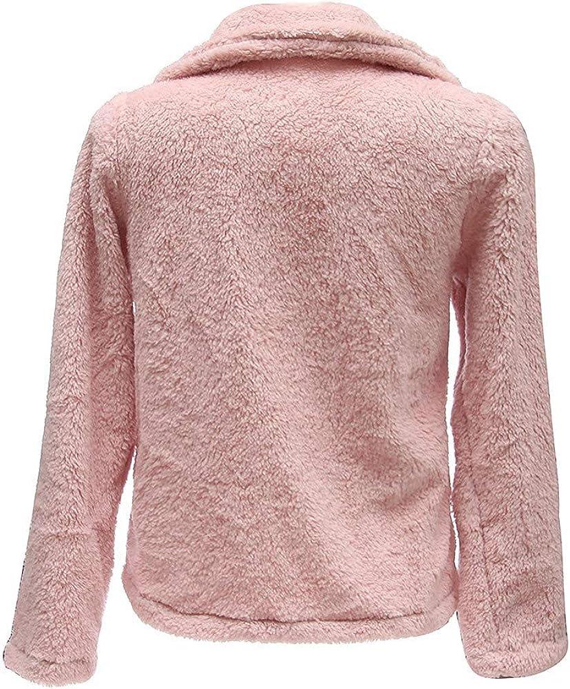 NOMUSING Overcoat for Women Winter Casual Warm Parka Jacket Solid Outwear Coat Pullover Sweatshirt Button Outerwear