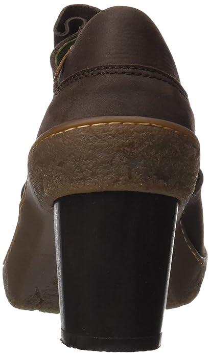 Nf70 Pleasant Lichen, Zapatos de Cordones Oxford para Mujer, Negro (Black), 37 EU El Naturalista