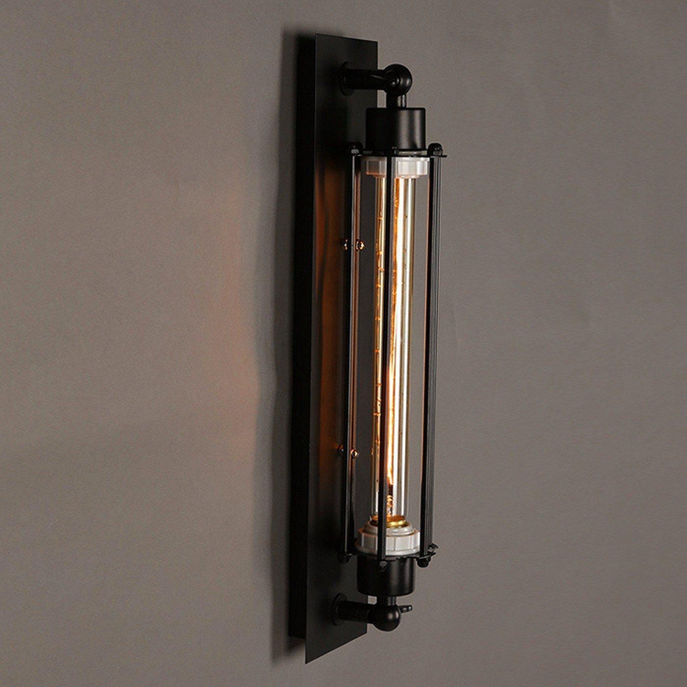 Anbiratlesn Modern E27 Vintage Rustikal Wandlampe für Schlafzimmer Wohnzimmer Korridor Badezimmer Küche Loft Flöte Industrial Wind Schmiedeeisen 10  47 CM