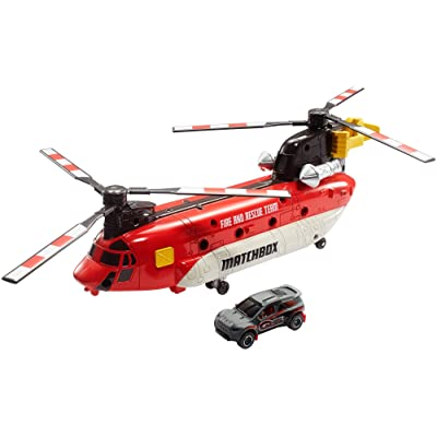 Matchbox Power Launcher Helicopter: Toys & Games