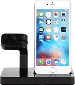 Topshion Power Station Dock, Stand & Built-in Lightning Universal2 in 1 Charger for Apple Watch Smart Watch and iPhone