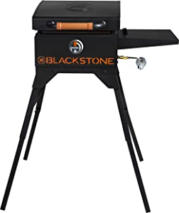 Blackstone 1939 On The Go Side Shelf, Hood & Leg Stand Heavy Duty Flat Top Griddle Grill Station for Kitchen, Camp, Outdoor, Tailgating, Black