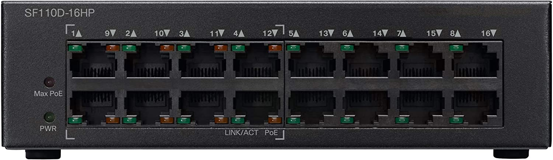 Cisco SF110D-16 16-Port 10//100 Desktop Switch