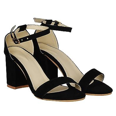 MISTO Women s Suede Leather Block Heel Sandals  Buy Online at Low ... be89e06b02