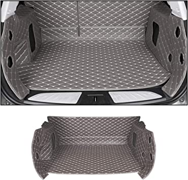 Custom Car Trunk Mats Leather Full Covered Cargo Liner for BMW X5 F15 2014-2018 All Weather Waterproof Durable Red