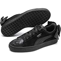 PUMA Women's Suede Bow Galaxy WN's Sneakers, Black Silver