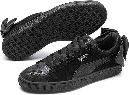 PUMA Women's Suede Bow Galaxy WN's Sneakers, Black Silver