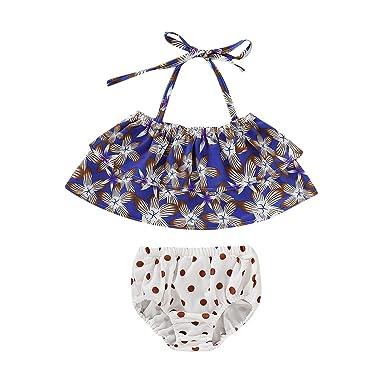 K-Youth® Traje de baño Dos Piezas Niña Estampado de Floral ...