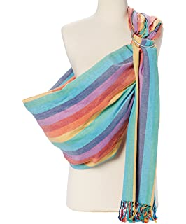 11910ca0787 Hip Baby Wrap Ring Sling Baby Carrier for Infants and Toddlers (Summer  Rainbow)