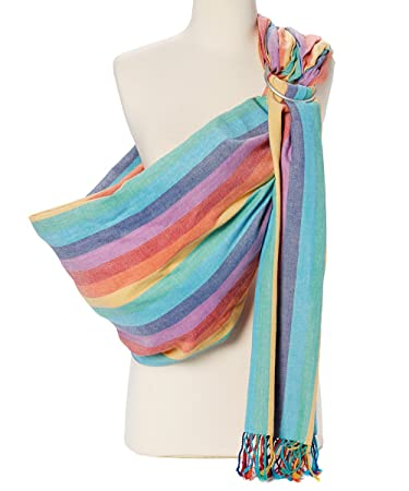 e926c4e2996 Amazon.com   Hip Baby Wrap Ring Sling Baby Carrier for Infants and Toddlers  (Summer Rainbow)   Baby