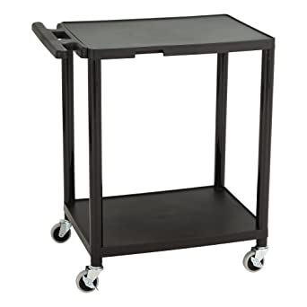 Amazon Com Norwood Commercial Furniture 2 Tier Plastic Rolling Cart