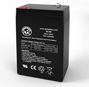 This is an AJC Brand Replacement Zareba SB3 6V 4.5Ah Security System Battery