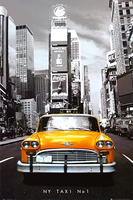 Poster New York Taxi.Amazon Com New York Taxi No 1 Poster 24 X 36in Prints Posters