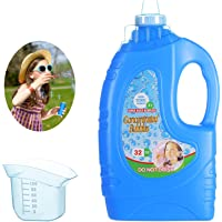 KADINOY Bubbles, Bubble Solution Refills with Easy Pour Funnel and Measuring Cup 32 oz (up to 2.5 Gallon) Concentrated…