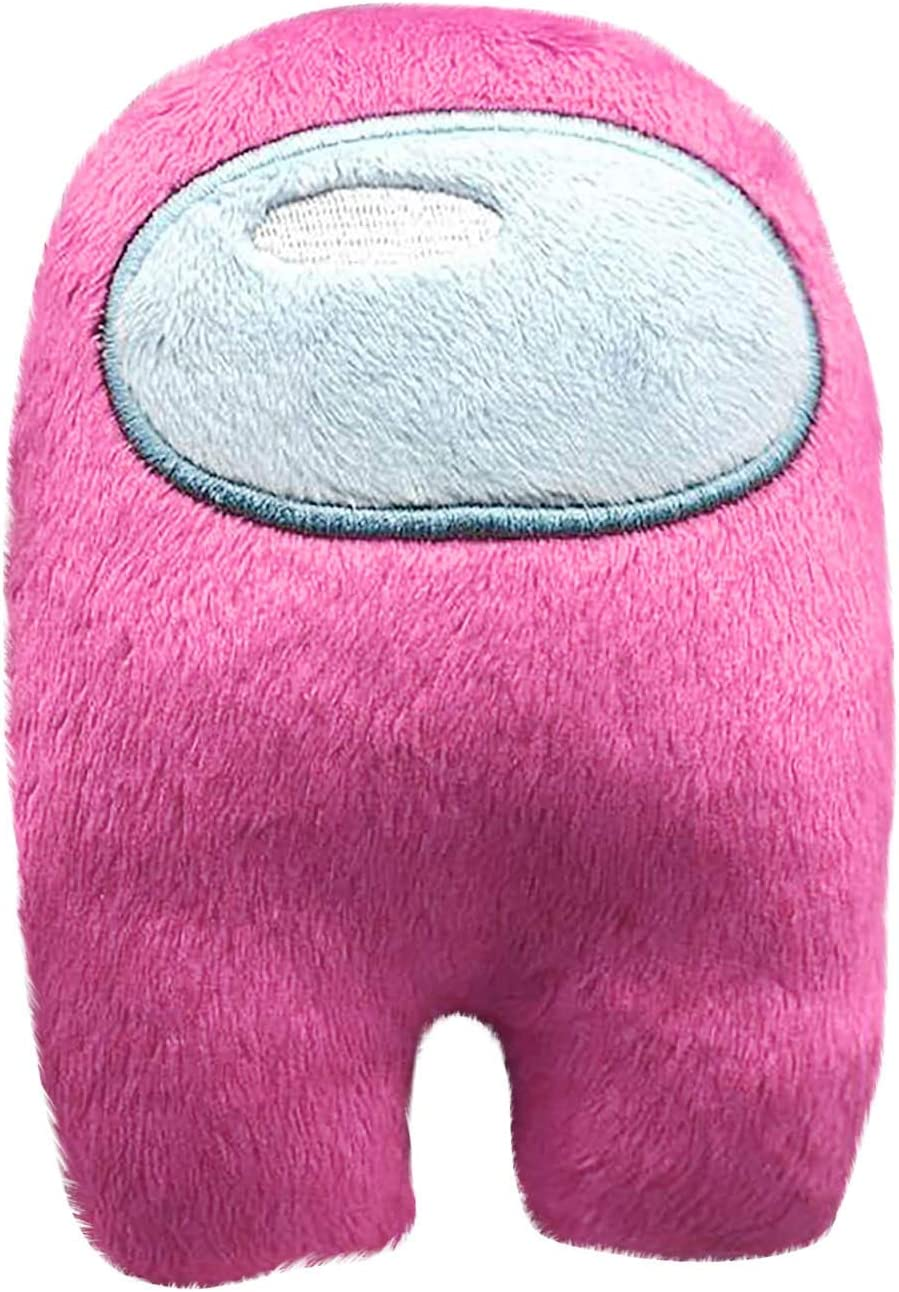 GRTLPOK Among US 11.8inch Plush Figures and Among Us Stickers 50 PCS Action Game Soft Dolls for Kids Birthday Christmas New Year Gift 3. Large, 4. Pink