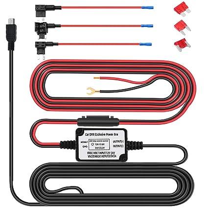 amazon com hard wire kit for dash cam micro usb port dc 12v 24v rh amazon com