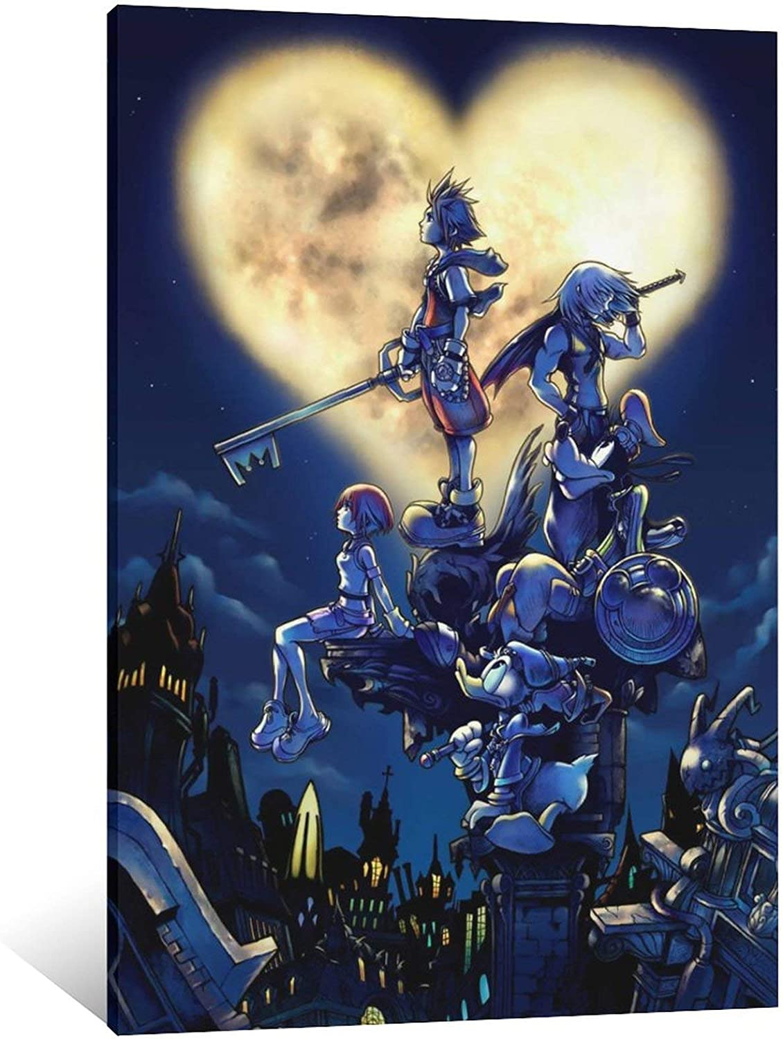 great XQ379-Kingdom Hearts Poster Print 24X36 Canvas Art Poster and Wall Art Picture Print Modern Family Bedroom Decor Posters 12×18inch(30×45cm)