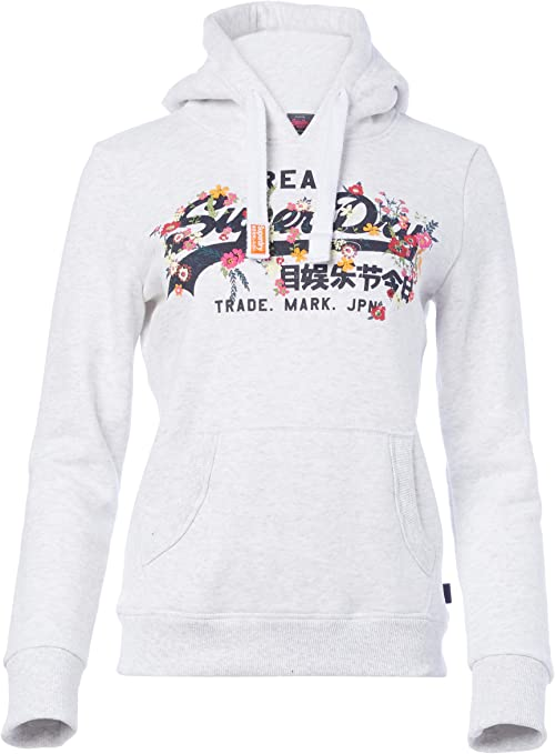 Superdry Damen Vintage Logo Pop Entry Hood Kapuzenpullover