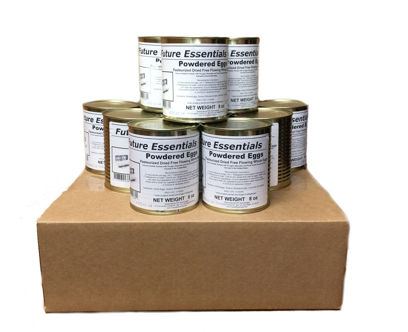 Future Essentials Canned Powdered Eggs (Full Case (12-Pack))