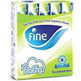 Fine Fluffy Facial Tissues - Pack of 10 Boxes (10 x 200 Sheets x 2 Ply)