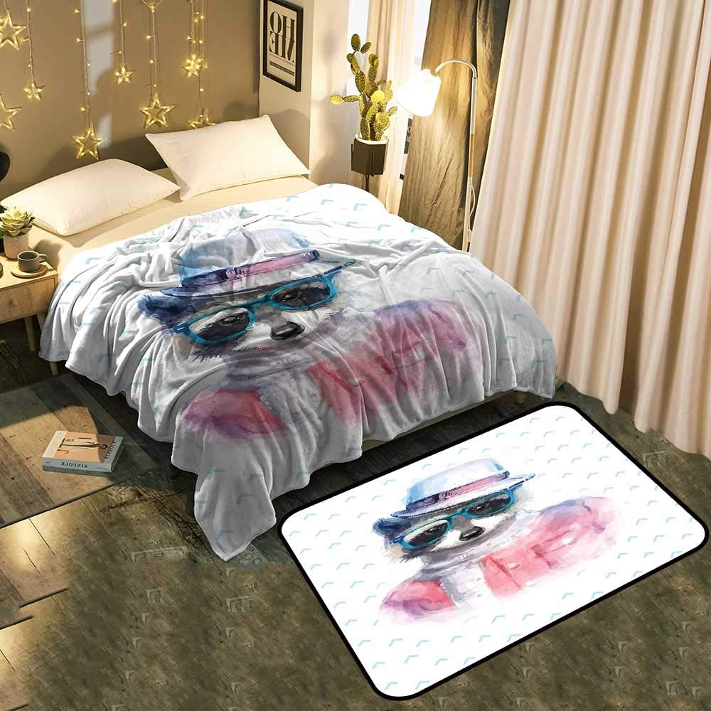 color06 Blanket 60 x78  Mat 5'X8' Bedside Blanket Doormat suitFunny Muzzy Frog on Lily Pad in Pond Hunting Tasty Fly Expressions Cartoon Cozy and Durable Blanket 60 x78  Mat 5'X8'