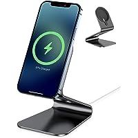apiker Stojak na telefon, aluminiowy uchwyt na telefon kompatybilny z ładowarką MagSafe, solidny stojak do ładowarki na…