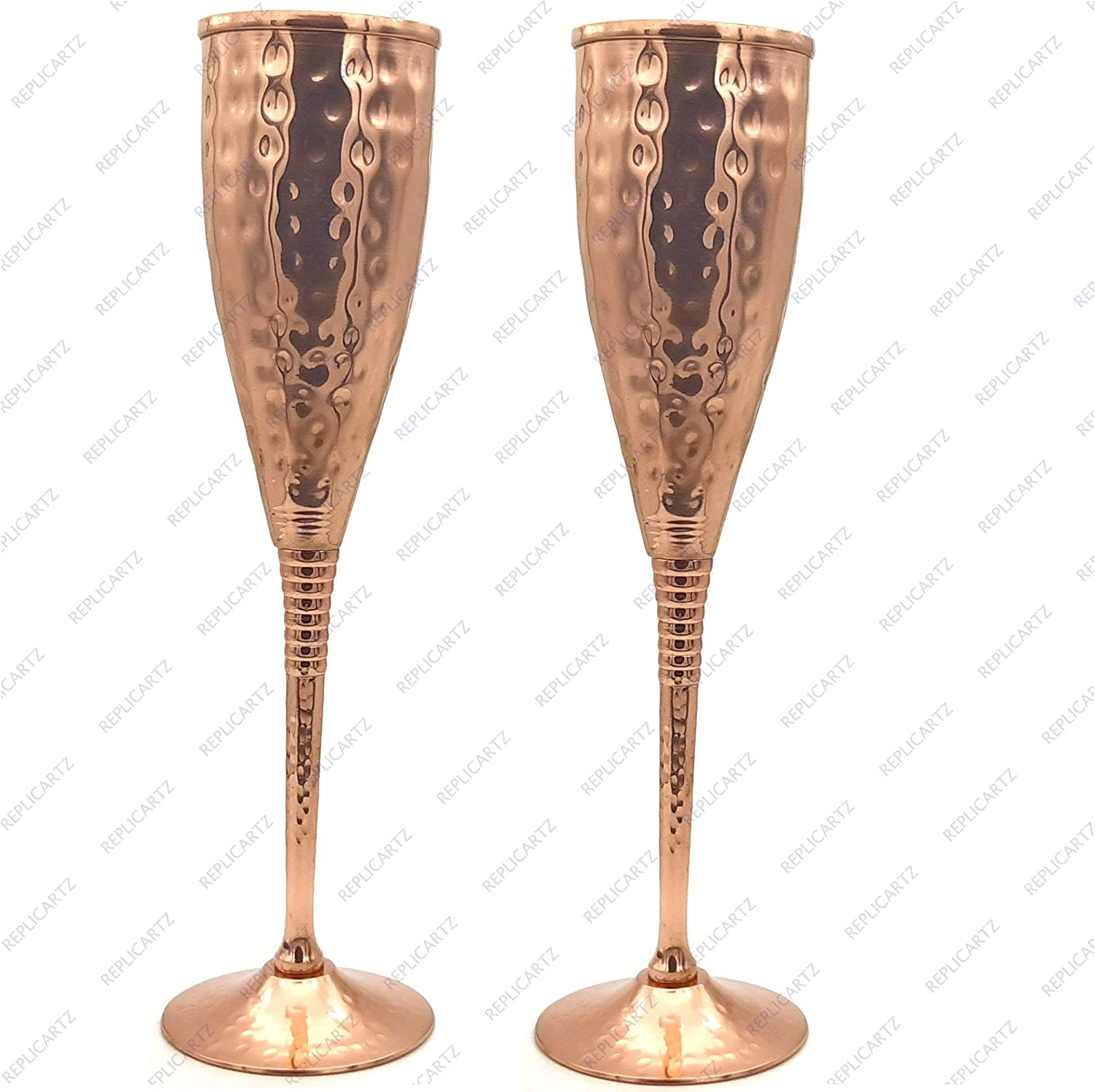 Amazon Com Copper Champagne Flutes Of 6 7 Oz Set Of 2
