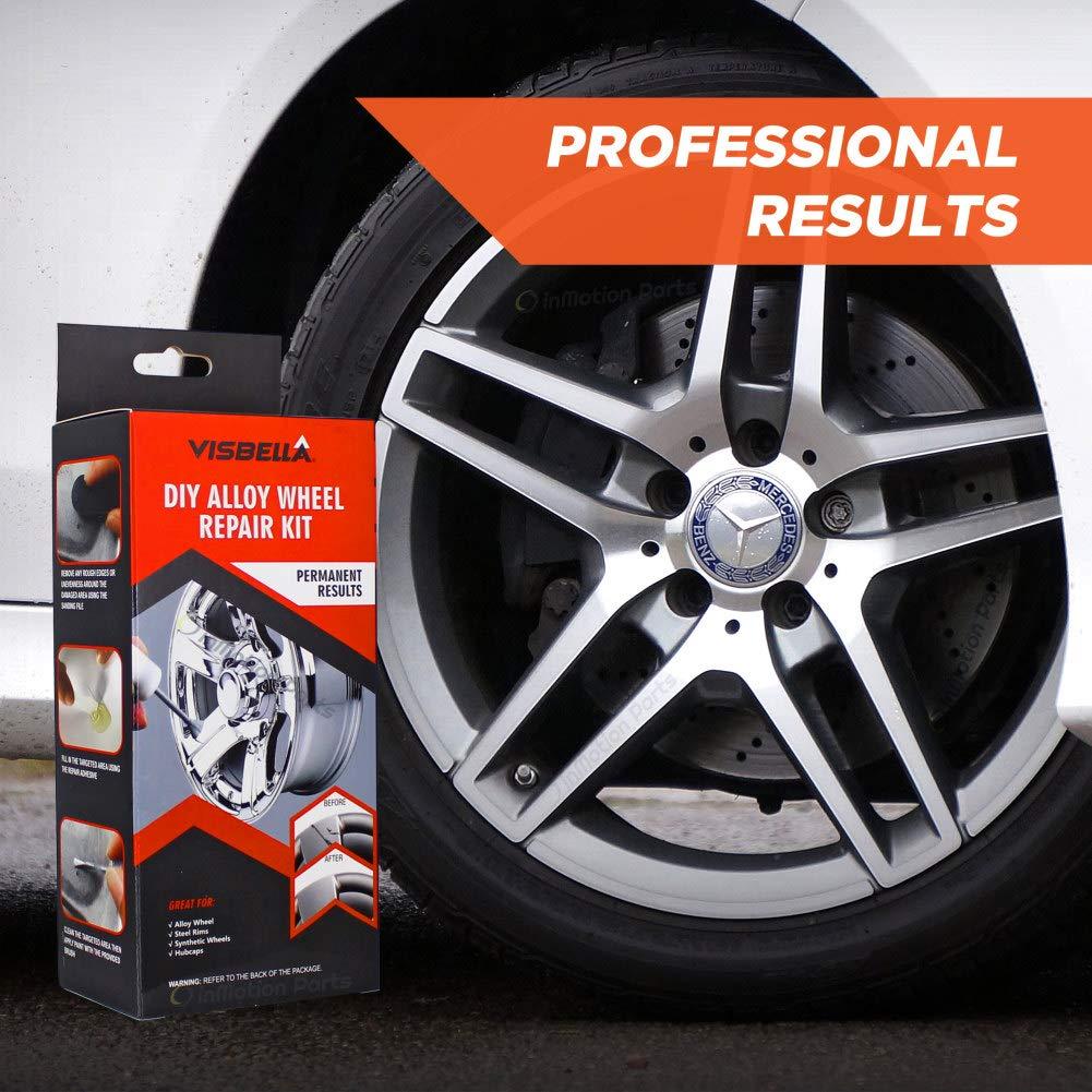 5bdf0a6d8d Amazon.com  Visbella DIY Alloy Wheel Repair Kit Fix Curb Rash - Touch up  and Paint Rim Surface Damage  Automotive