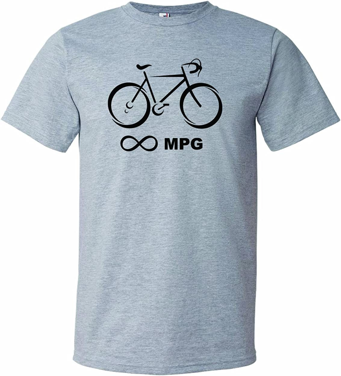 Men's Bicycle Infinity Miles Per Gallon MPG Unlimited Bike Cyclist T-Shirt