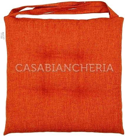Cuscino Sedia Imbottito Antimacchia Sirma Arancione Amazon It Casa E Cucina
