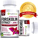 Forskolin Extract for Weight Loss - 600mg 40% forskolin Standardized | Strenght Fat Loss, Boosts Metabolism, Aids in Sleeplessness, Helps controle Appetite | High Quality Natural Supplement MEGATHOM