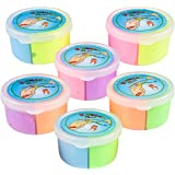 Bouncing Putty Assorted Neon Colors - Bulk Pack of 12, Diy Make Your Own Ball, Each Container With Two Separate Colors, Highly Elastic, Fun Party Favor-Project, By - Bedwina