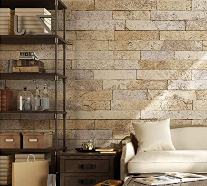 Ylcj Wallpaper Healthy Pvc Retro Rustic Style 3d Imitation