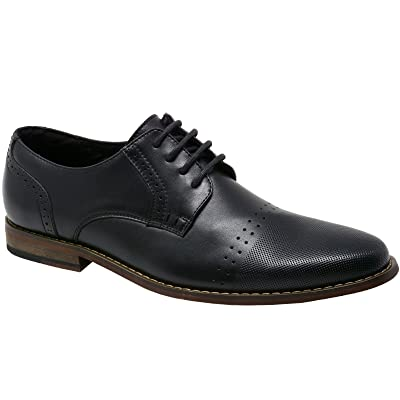 alpine swiss Double Diamond Mens Genuine Leather Lace up Oxfords Dress Shoes | Oxfords