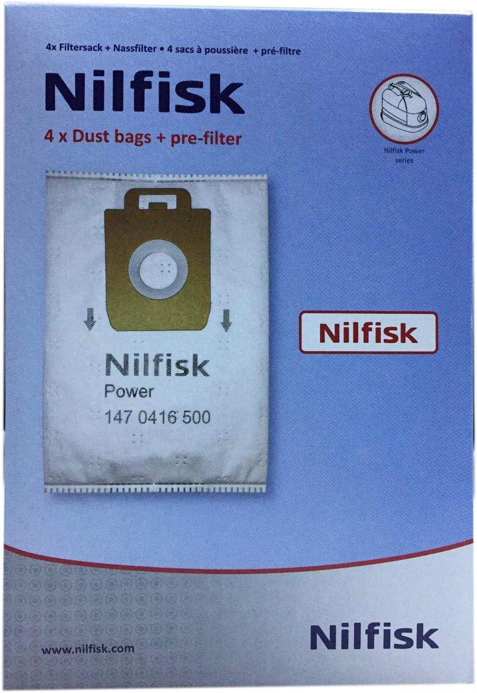 Nilfisk 107407639 accesorio y suministro de vacío Bolsa para el polvo - Accesorio para aspiradora (Bolsa para el polvo, Blanco, Nilfisk, 4 pieza(s), 1 pieza(s)): Amazon.es: Hogar