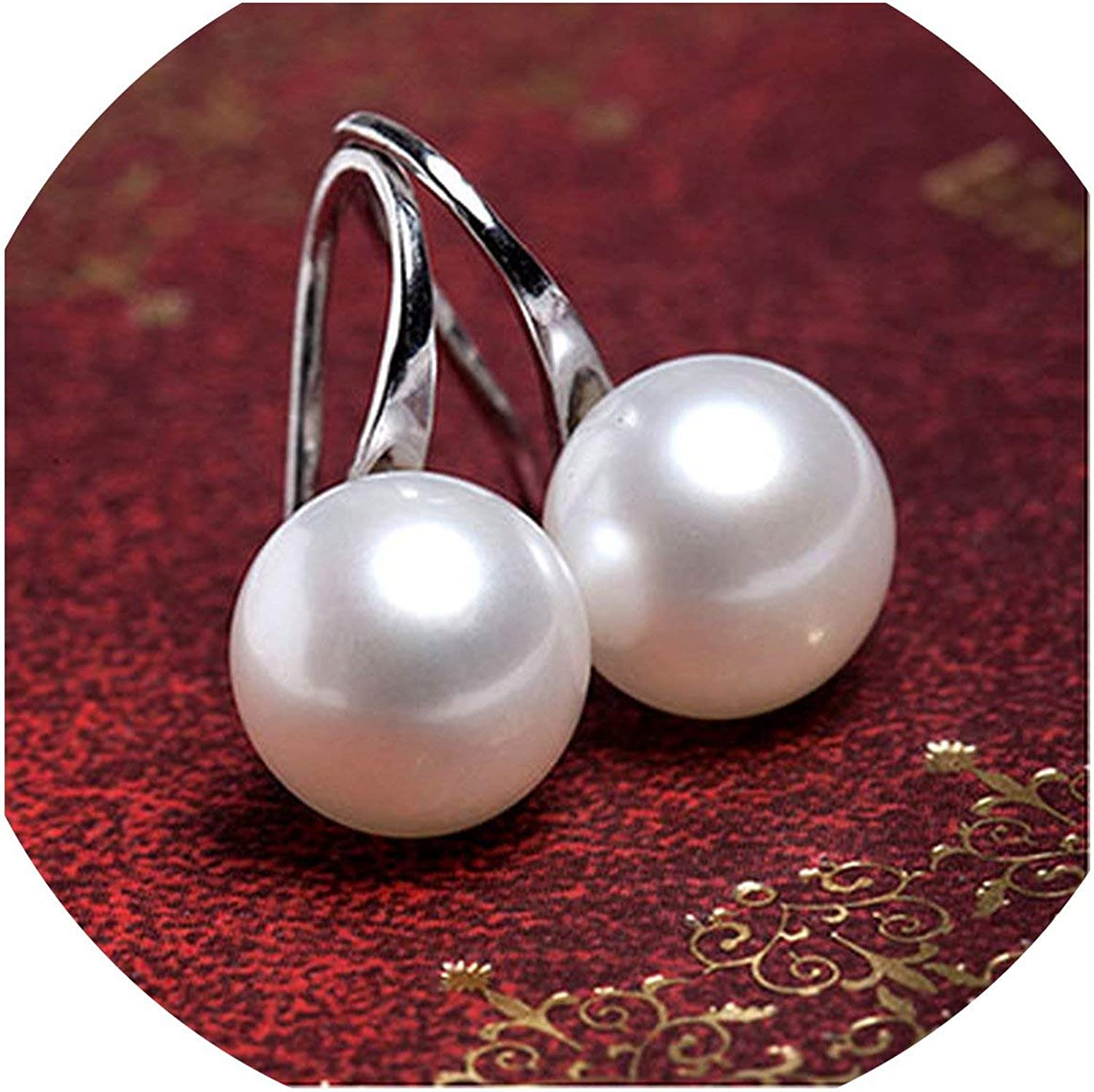 Fashion Crystal Women Pearl Necklace Earrings Bridal Wedding Jewelry Set Party