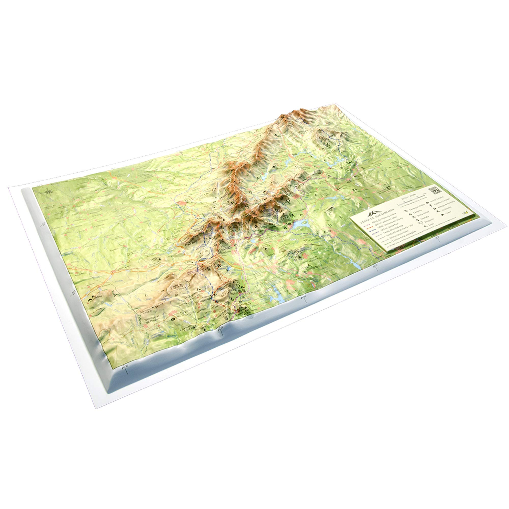 Mapa en relieve Sierra de Guadarrama: Escala 1:250.000: Amazon.es: All 3D Form S.L.: Libros