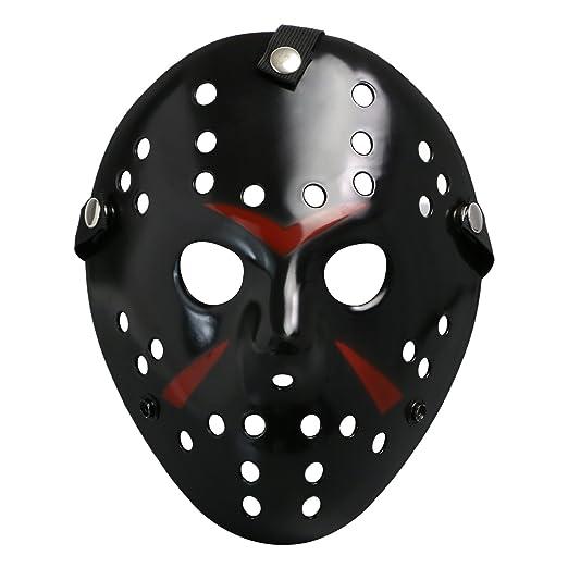 CASACLAUSI Jason Máscara Cosplay Víspera de Todos los Santos Disfraz Horror Hockey (Adulto, Amarillo): Amazon.es: Juguetes y juegos