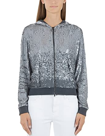 4783e85bb332 Marc Cain Sports Damen Jacke GS 31.33 J93, Grau (Silver Cloud 803 ...